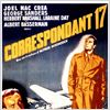 Correspondant 17 : affiche Alfred Hitchcock, Herbert Marshall, Joel McCrea, Laraine Day