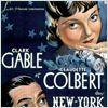 New York-Miami : affiche Clark Gable, Claudette Colbert, Frank Capra
