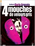 Quatre mouches de velours gris