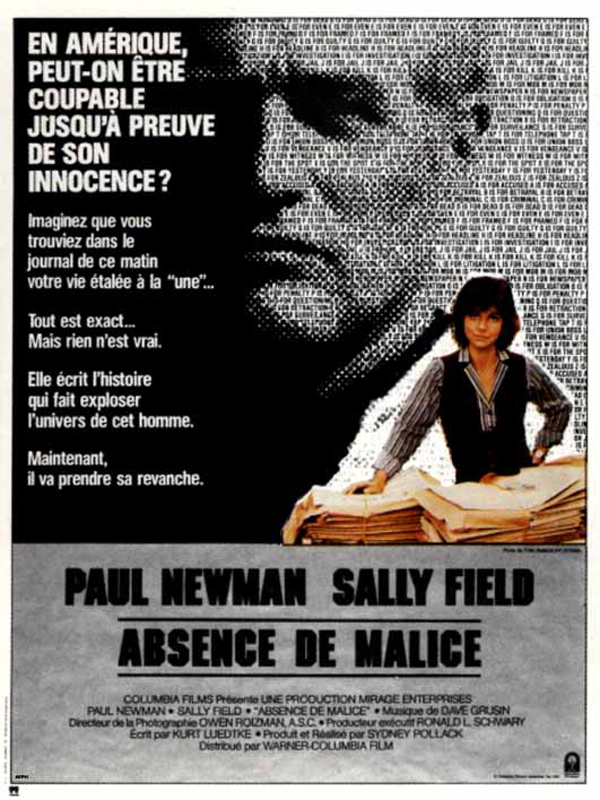 telecharger Absence de Malice DVDRIP Complet