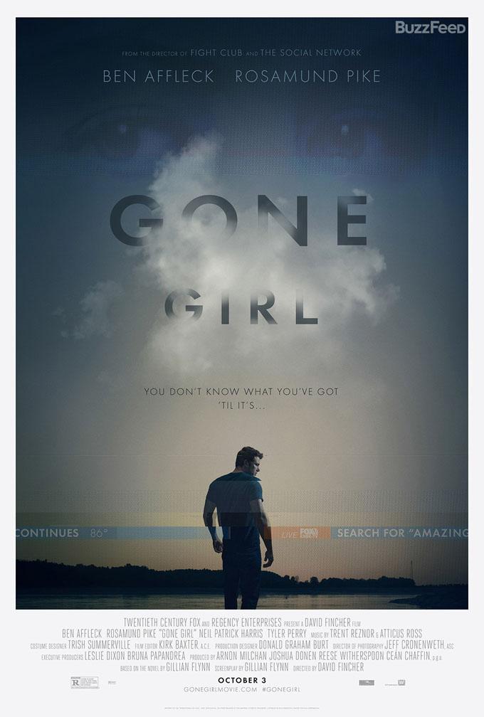 Affiche de Gone Girl, de David Fincher (2014)