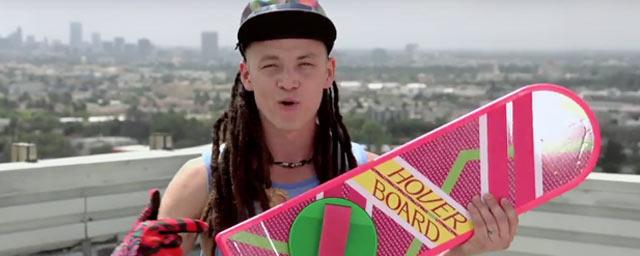 Retour vers le futur la vraie fausse pub pour le hoverboard news films - Invention du skateboard ...