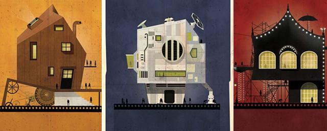 A quoi ressembleraient les maisons fictives de grands réalisateurs ?