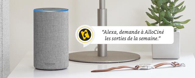 Retrouvez AlloCiné et votre actu cinéma/séries sur Alexa, le service vocal intelligent d'Amazon