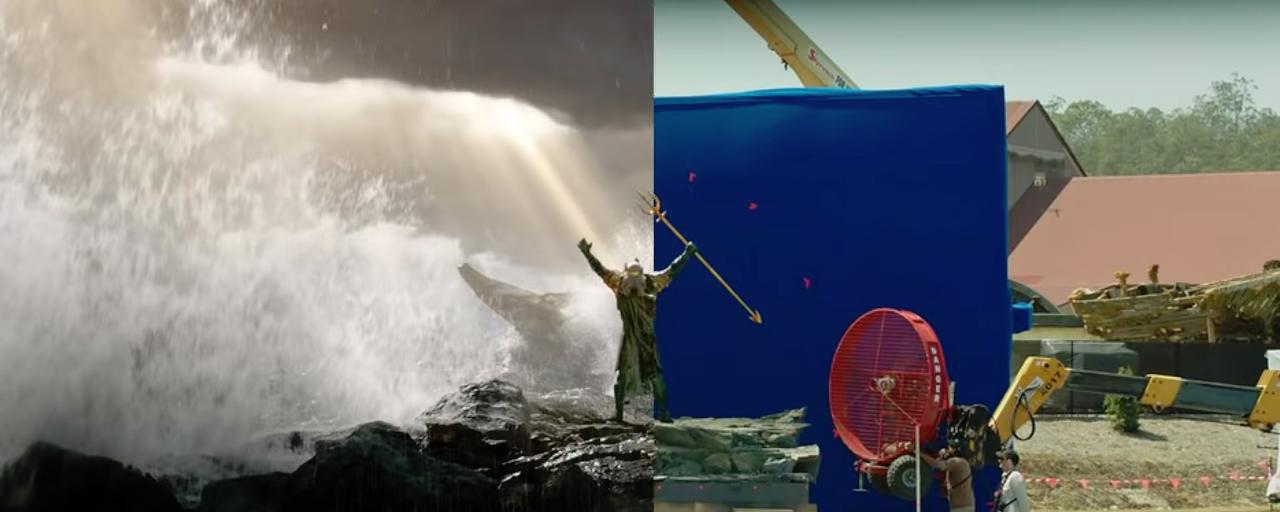 Aquaman côté coulisses : le film DC Comics avec et sans effets spéciaux