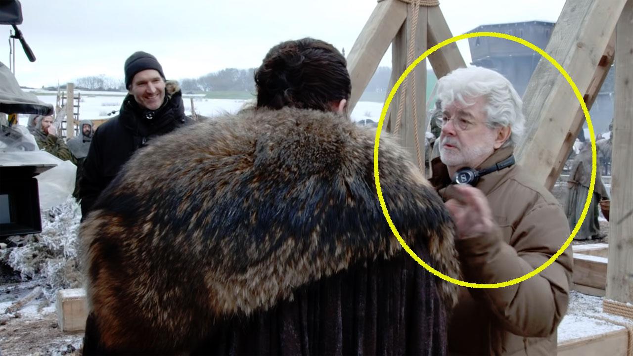 Game of Thrones saison 8 : George Lucas dirige Kit Harington dans le making of de l'épisode 1 [SPOILERS]