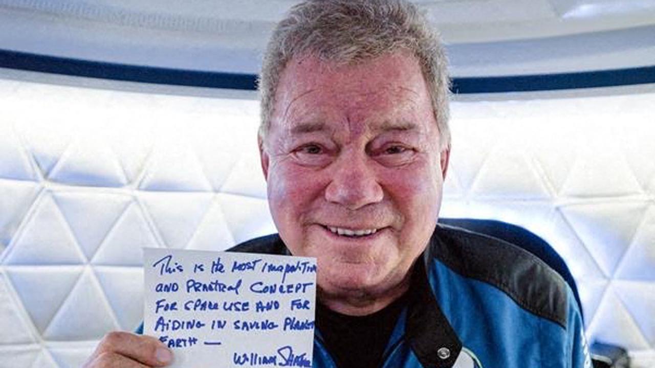 William Shatner : le capitaine Kirk de Star Trek est allé dans l'espace !