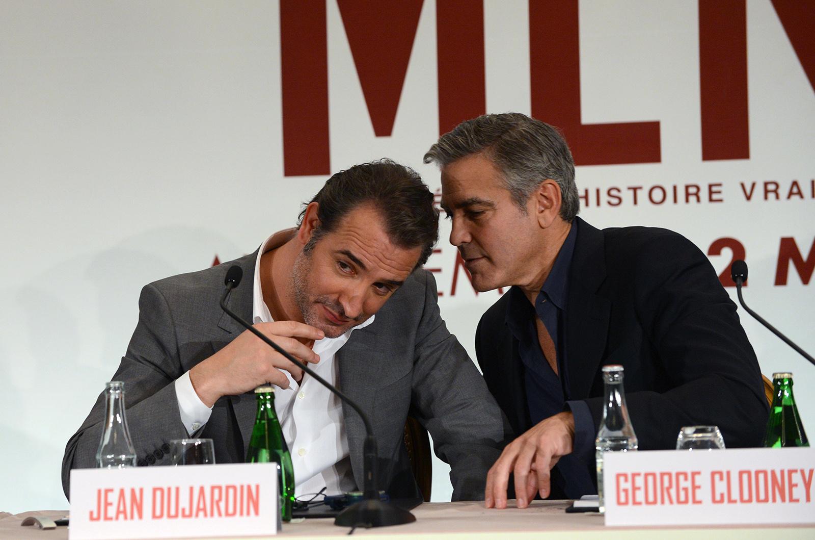 Monuments men photo promotionnelle george clooney jean for Dujardin dernier film