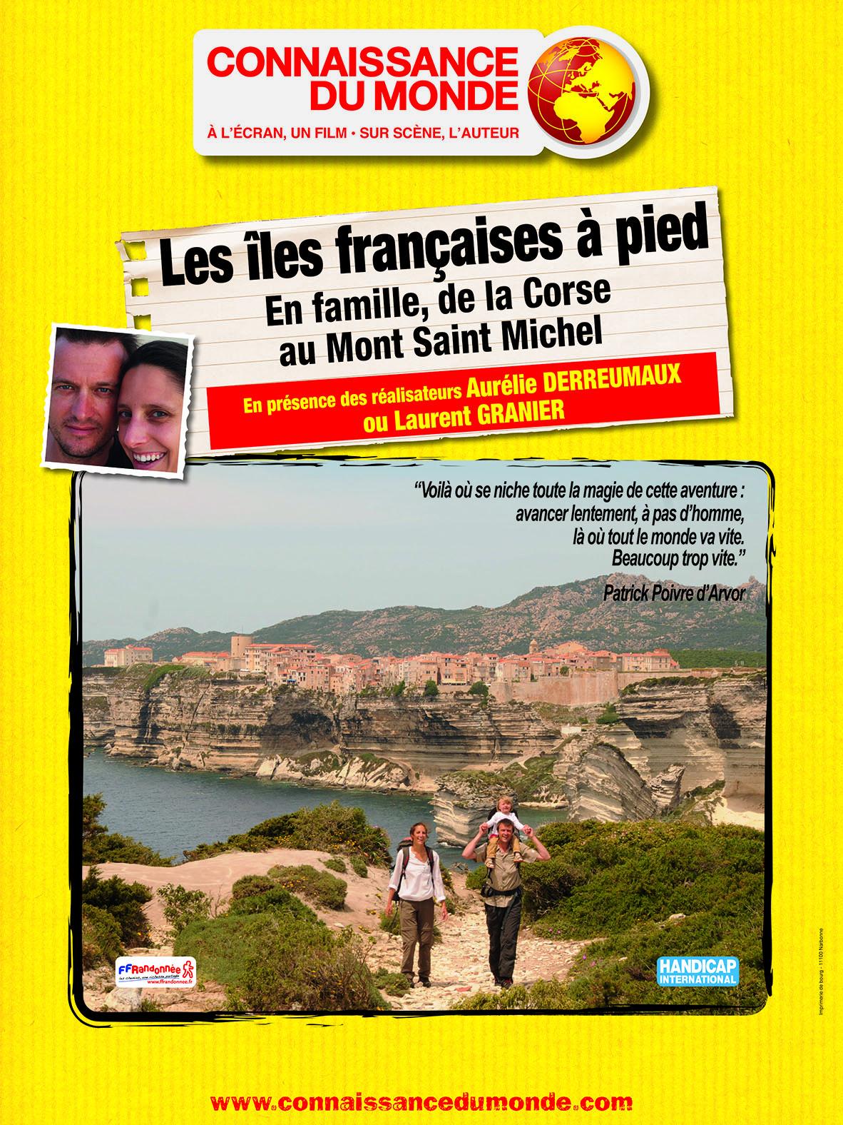 Les îles françaises à pied, En famille, de la Corse au Mont Saint Michel