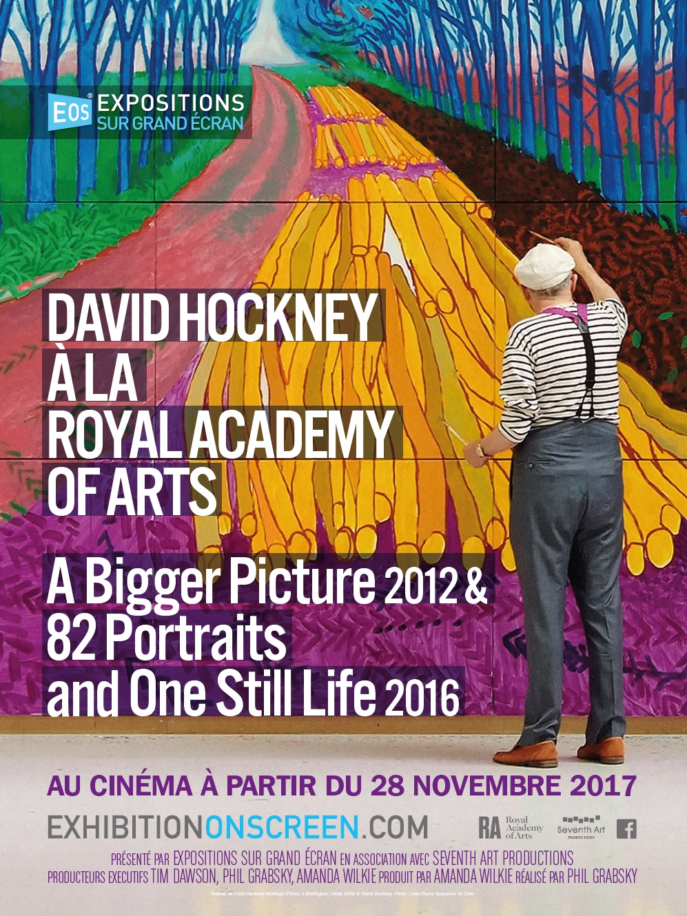 David Hockney à la Royal Academy of Arts : A Bigger Picture 2012 & 82 Portraits and One Still Life 2016