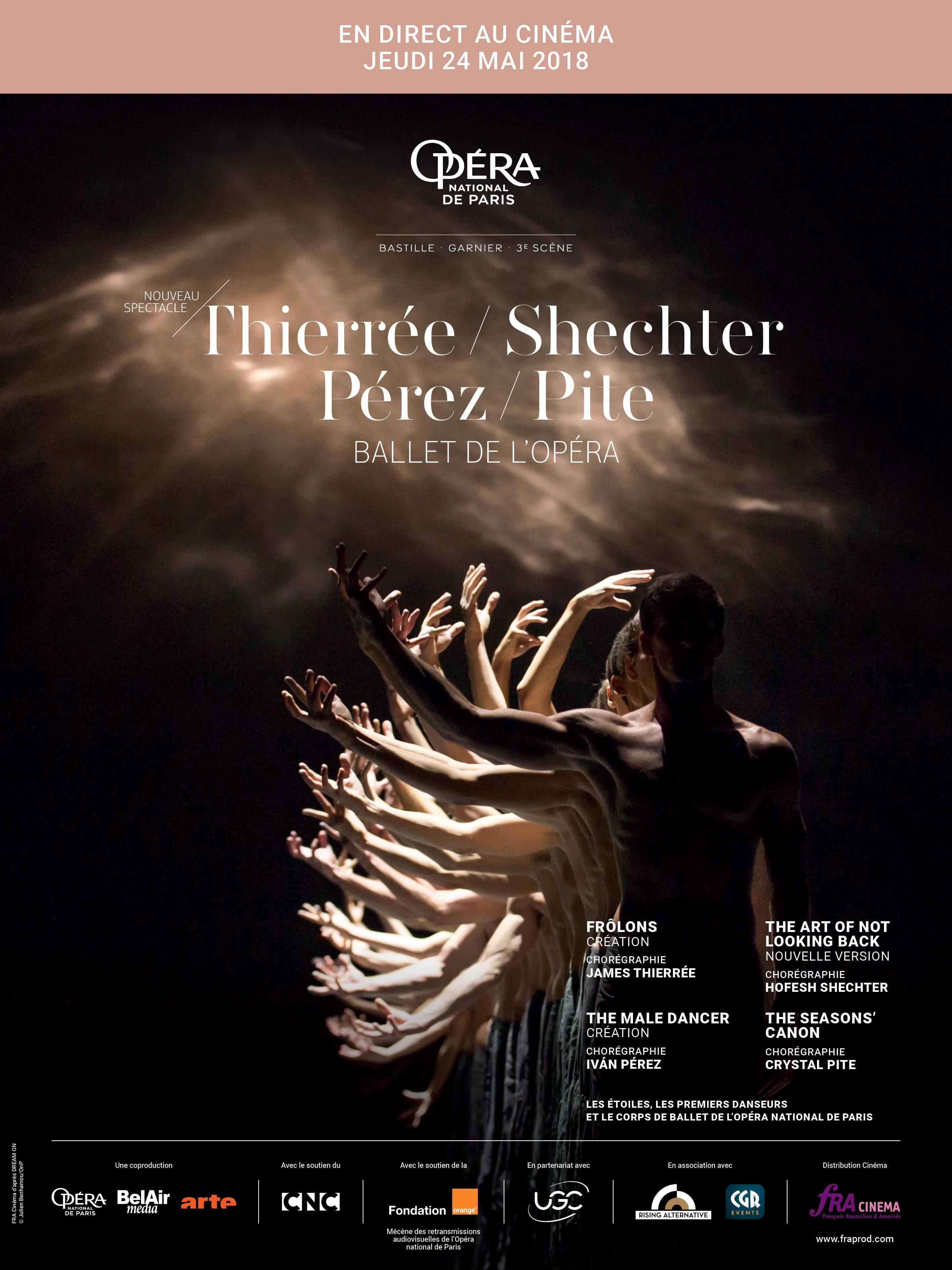 Thierree -  Shechter - Pérez - Pite (Opéra de Paris-FRA Cinéma)