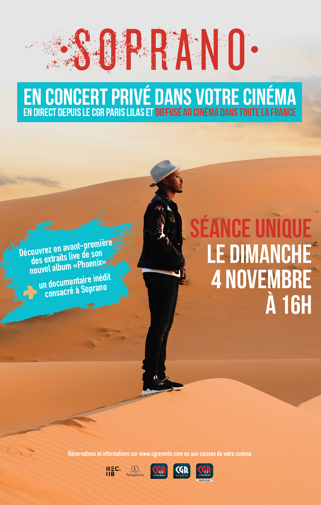 Soprano - le concert privé diffusé au cinéma (CGR Events)