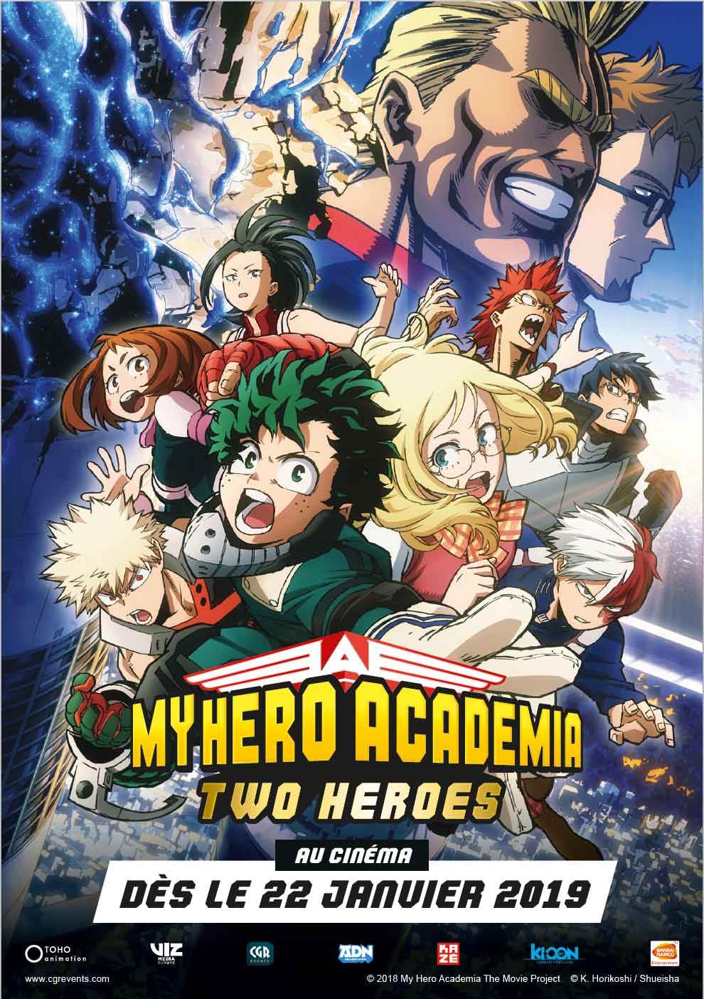 affiche du film : My Hero Academia : Two Heroes (CGR Events 2019)