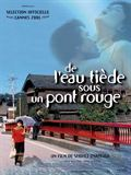 Photo : De l'eau tide sous un pont rouge