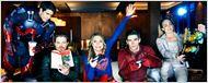 Supergirl, Flash et Arrow s'amusent sur les photos du super cross-over de la CW