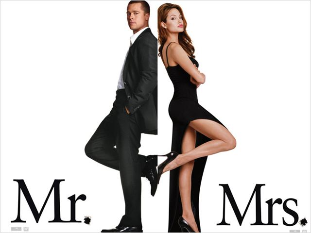 Mr. & Mrs. Smith : affiche Angelina Jolie, Brad Pitt, Doug Liman