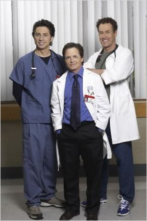 Scrubs : Photo John C. McGinley, Michael J. Fox, Zach Braff