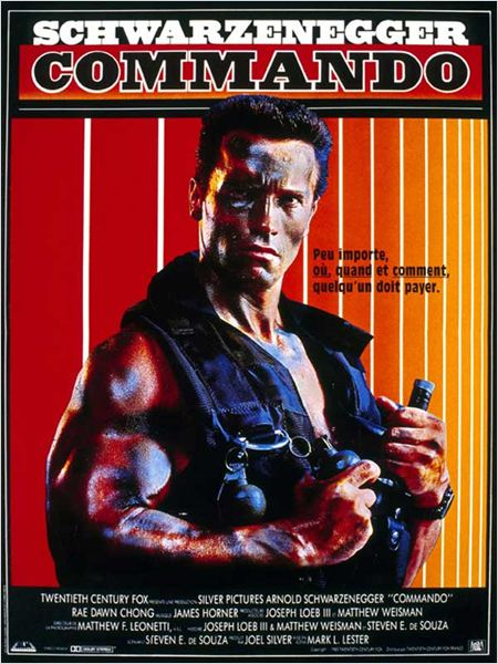 Commando : affiche Arnold Schwarzenegger, Mark L. Lester