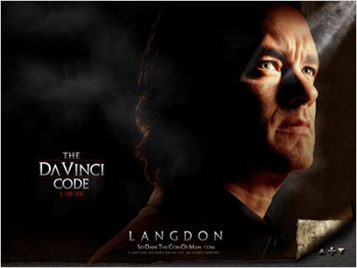 Da Vinci Code : affiche Dan Brown, Ron Howard, Tom Hanks