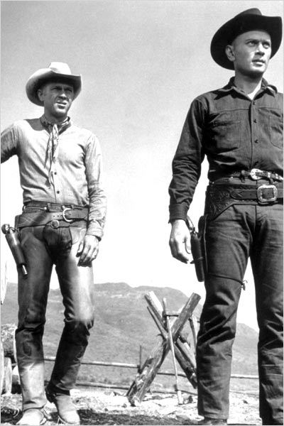 Les Sept mercenaires : photo Steve McQueen, Yul Brynner