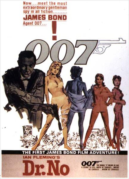 James Bond 007 contre Dr. No : affiche Ian Fleming, Sean Connery, Terence Young, Ursula Andress