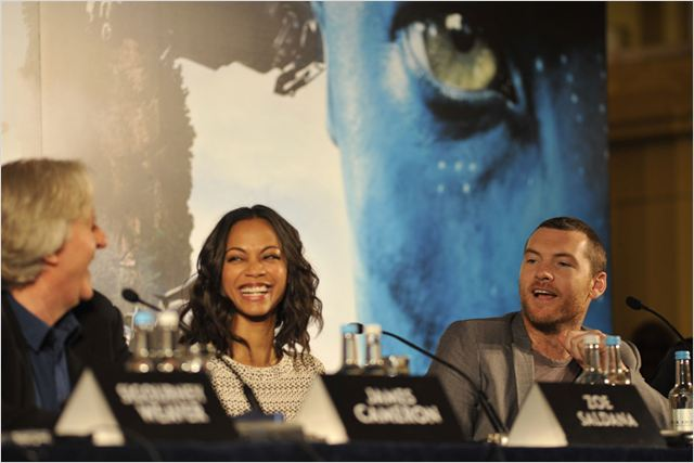 Avatar : photo James Cameron, Sam Worthington, Zoe Saldana