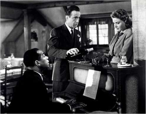 Casablanca : photo Dooley Wilson, Humphrey Bogart, Ingrid Bergman, Michael Curtiz