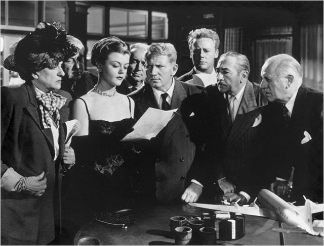 L'Enjeu : photo Adolphe Menjou, Angela Lansbury, Howard Smith, Spencer Tracy, Van Johnson