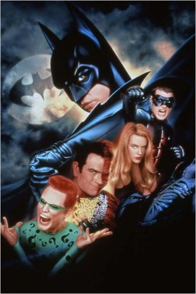 Batman Forever : Photo Chris O'Donnell, Jim Carrey, Joel Schumacher, Nicole Kidman, Tommy Lee Jones