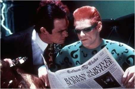Batman Forever : photo Jim Carrey, Joel Schumacher, Tommy Lee Jones