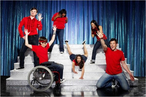 Glee : Photo Amber Riley, Chris Colfer, Cory Monteith, Jenna Ushkowitz, Kevin McHale