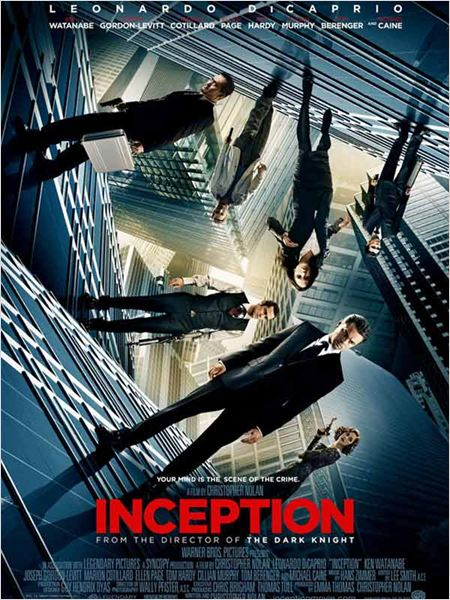 Inception : affiche Christopher Nolan