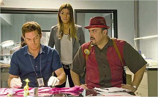 Photo David Zayas, Jennifer Carpenter, Michael C. Hall