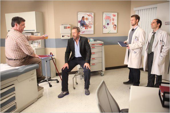 Dr House : photo Hugh Laurie, Jesse Spencer, John Scurti, Peter Jacobson