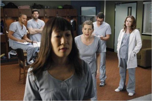 Photo Ellen Pompeo, Jesse Williams, Justin Chambers, Robert Baker, Sandra Oh