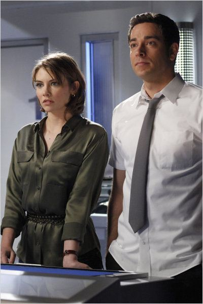 Chuck : photo Lauren Cohan, Zachary Levi