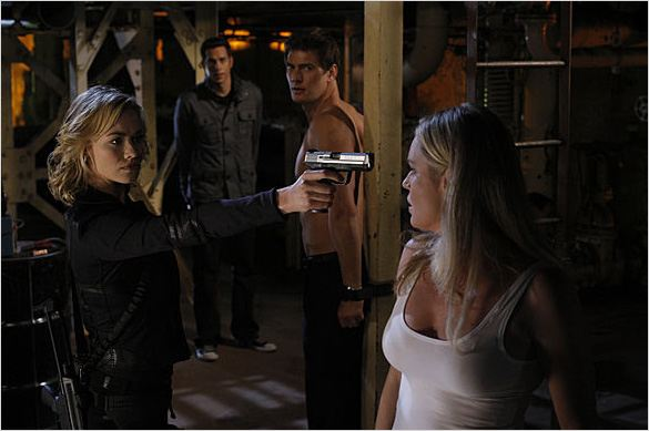Chuck : photo Rebecca Romijn, Ryan McPartlin, Yvonne Strahovski, Zachary Levi
