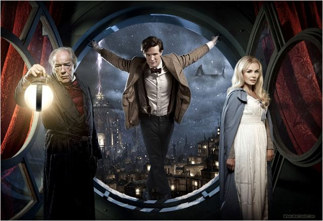 Doctor Who (2005) : photo Katherine Jenkins, Matt Smith (IV), Michael Gambon