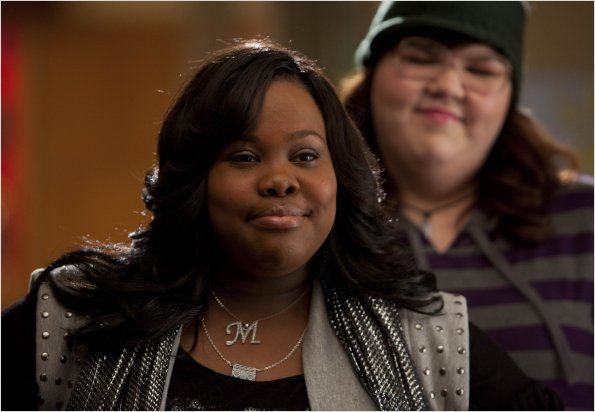 Glee : photo Amber Riley, Ashley Fink