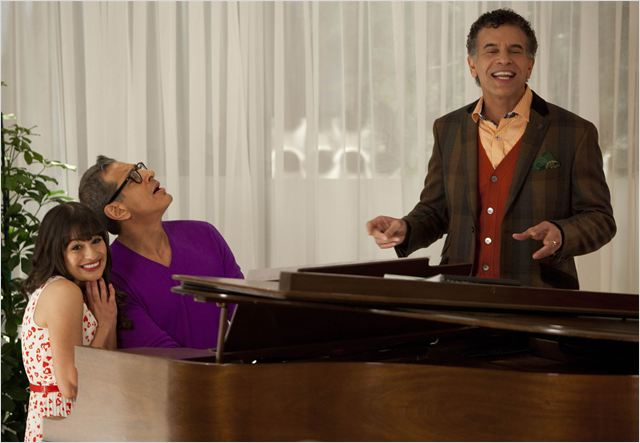 Photo Brian Stokes Mitchell, Jeff Goldblum, Lea Michele