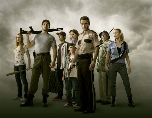 The Walking Dead : Photo Andrew Lincoln, Chandler Riggs, Emma Bell, Jon Bernthal, Laurie Holden