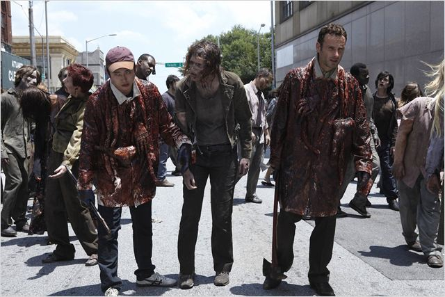 The Walking Dead : Photo Andrew Lincoln, Steven Yeun