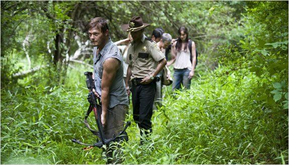 Photo Andrew Lincoln, Norman Reedus, Sarah Wayne Callies