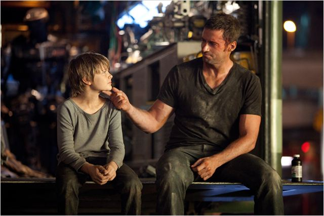 Real Steel : Photo Dakota Goyo, Hugh Jackman, Shawn Levy
