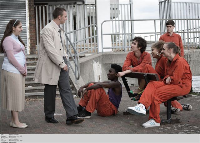Misfits : Photo Antonia Thomas, Iwan Rheon, Lauren Socha, Nathan Stewart-Jarrett, Robert Sheehan