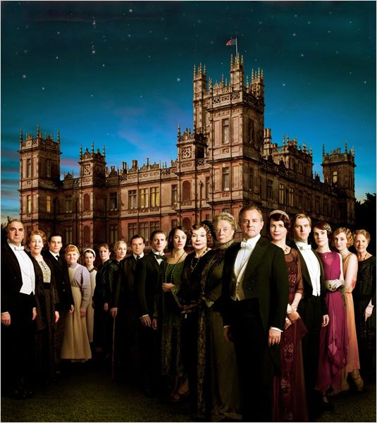 Photo Elizabeth McGovern, Hugh Bonneville, Jessica Brown Findlay, Jim Carter, Joanne Froggatt