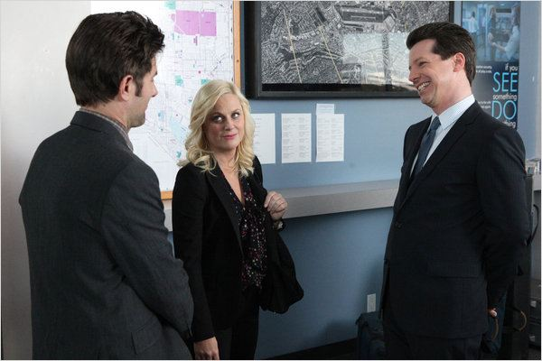 Photo Adam Scott, Amy Poehler, Sean Hayes