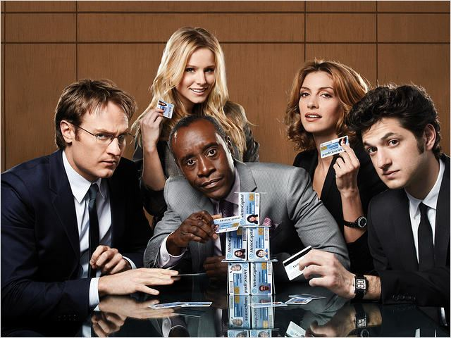 House of Lies : Photo Ben Schwartz, Dawn Olivieri, Don Cheadle, Josh Lawson, Kristen Bell