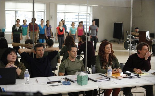Smash : photo Ann Harada, Christian Borle, Debra Messing, Jack Davenport, Joshua Bergasse
