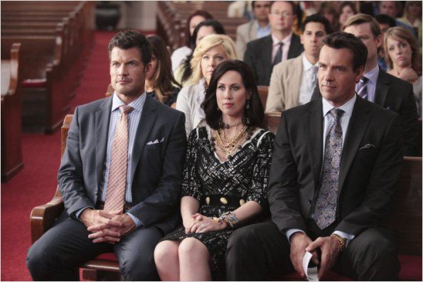 GCB : photo David James Elliott, Jennifer Aspen, Mark Deklin, Miriam Shor